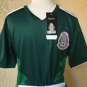 México Soccer Jersey and Shorts Green/White